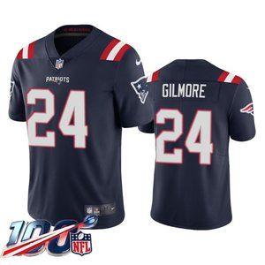 New England Patriots Stephon Gilmore Navy Jersey